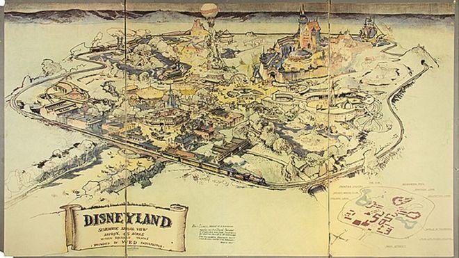Первая карта Диснейленда ушла смолотка за708 000 долларов
