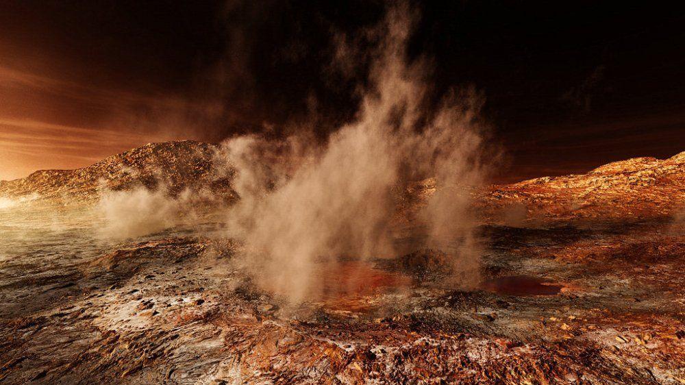 Ученые: песчаные бури меняют погоду наМарсе