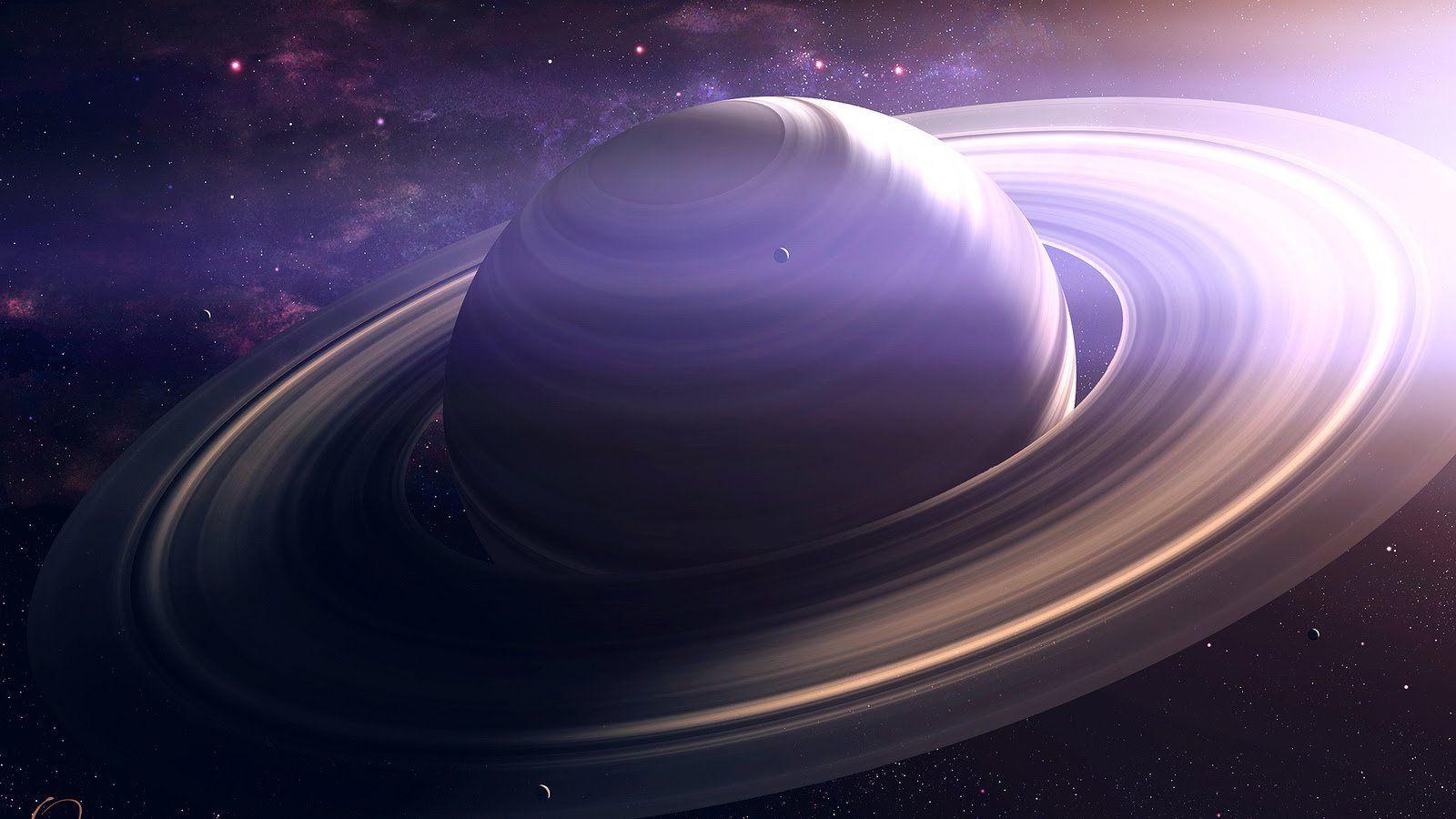 NASA показали неповторимое голубое свечение Сатурна