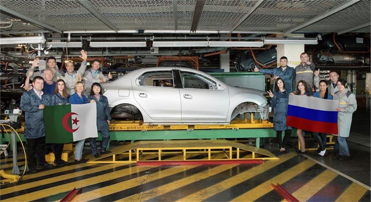 Рено РФ поставила вАлжир юбилейный 10000-й кузов русского производства