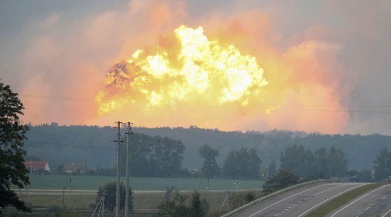 Наскладах вВинницкой области продолжается детонация боеприпасов