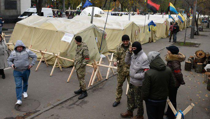 Вцентре украинской столицы уздания Рады произошел пожар