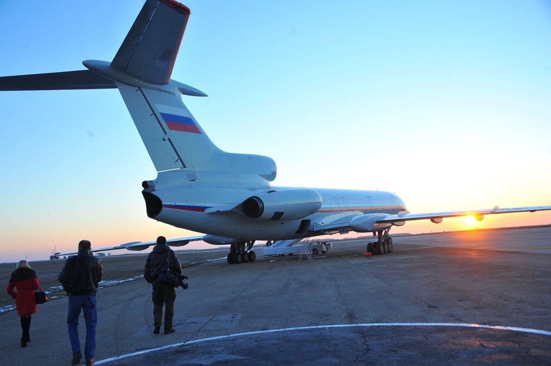Борт с российскими военными из Сирии прибыл в аэропорт Махачкалы