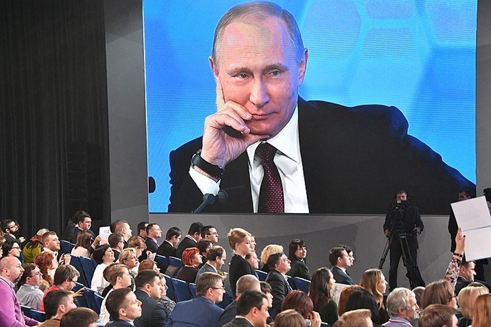 Песков рассказал обожиданиях отпресс-конференции В. Путина