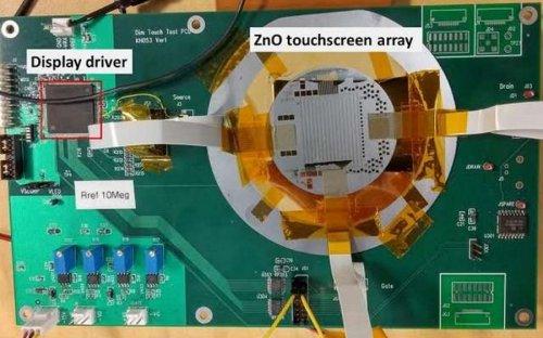 Учёные разработали суперлегкий и супертонкий сенсорный экран