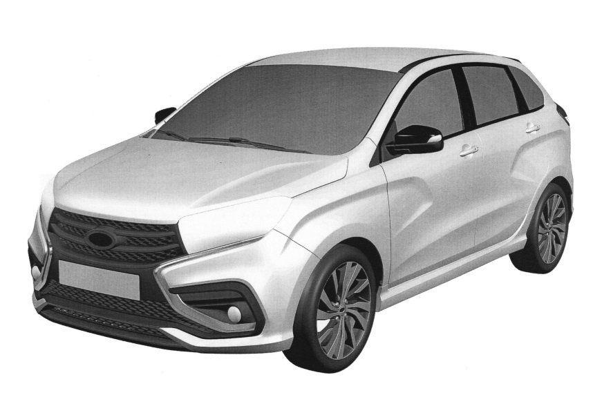 Компания волжский автомобильный завод получила патент нановый Лада Xray Sport