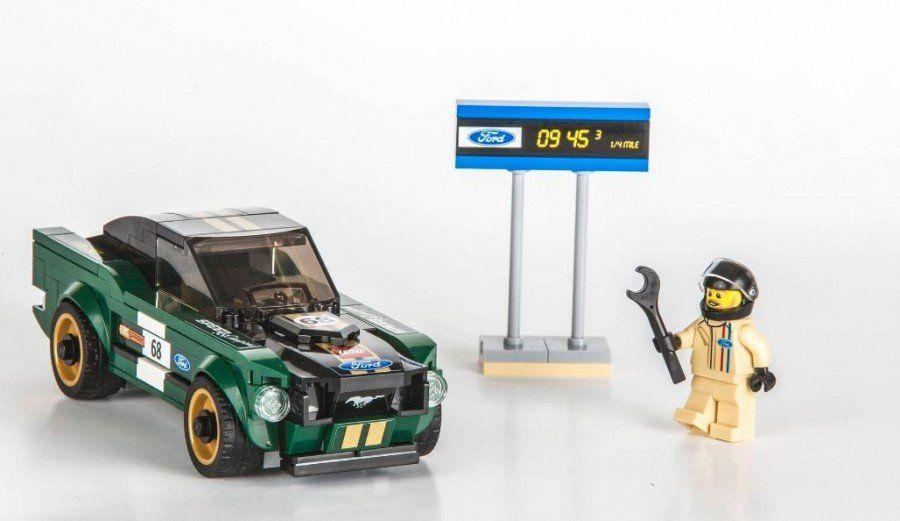 LEGO добавил всвою коллекцию Speed Champions Форд Mustang 1968 года