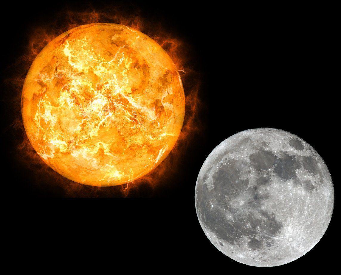 moon and sun - HD1144×924