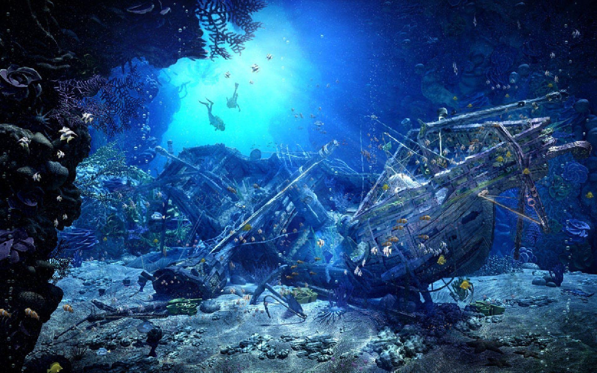 древние затонувшие корабли фото стен расставлены
