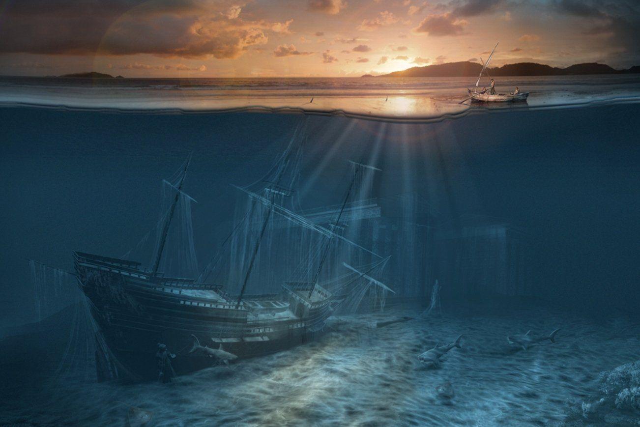 Красивые картинки корабли на дне